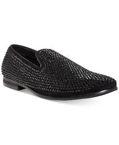 3f78e8fc039 Details about Steve Madden Men's Caviarr Rhinestone Smoking Slipper Black  Size 10 Retail $125