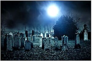 image is loading 9ft haunted graveyard cemetery wall mural halloween scene - Halloween Wall Mural