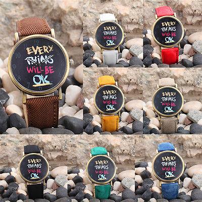 2015 Hot UNSEX Watches Womens Men leather Casual Analog Quartz Sport Wrist Watch