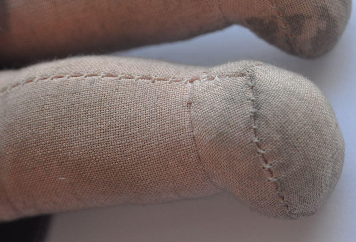 1920s Belgium Belgian Beautiful Papier-Mache Head Sewn Sewn Sewn Fabric Doll UNICA Marked 63673b