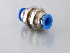 4mm to 4mm Bulkhead Push in Fitting                                        B130A