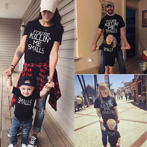 0b64216dedd03 Image is loading USA-Family-Outfits-Clothes-Mother-Daughter-Kids-Matching-