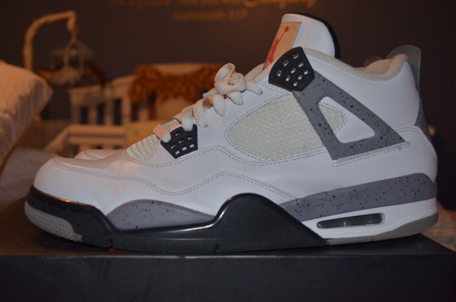 2012 Air Jordan Jordan Jordan Cement IV's Größe 12 Excellent Condition 78dd27