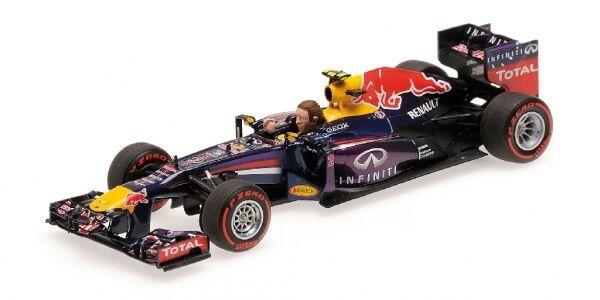 rouge Bull Rb9 Mark Webber Last Formula 1 Race Gp Brazil 2013 With Figurine 1 43