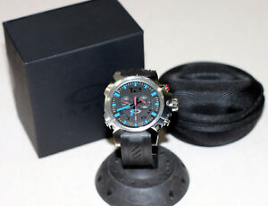 NEW-OAKLEY-DOUBLE-TAP-WATCH-BLUE-EDITION-W-UNOBTAINIUM-BAND-STAINLESS-DOUBLETAP