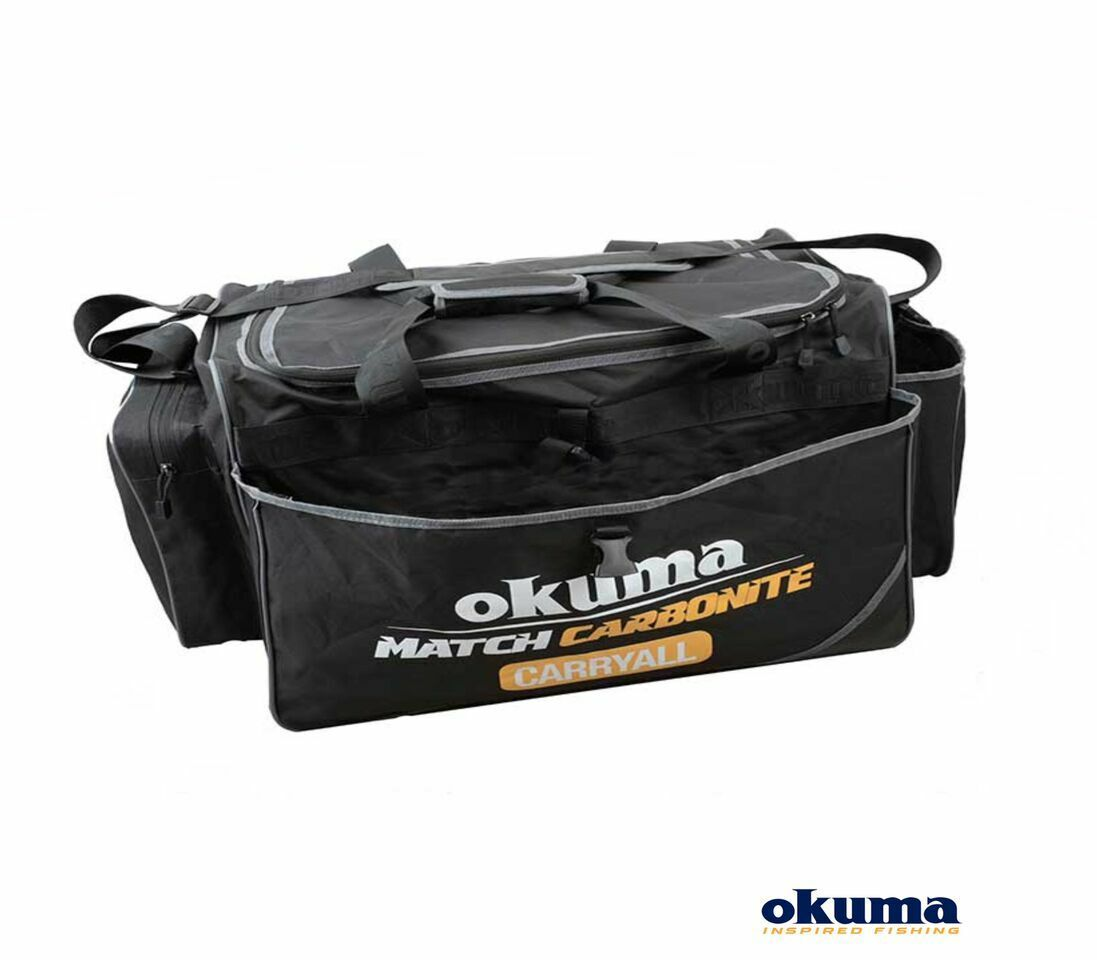 Okuma Match 60x36x39cm Carbonite Carryall Fishing Bait Bag | 60x36x39cm Match 4bc3a8