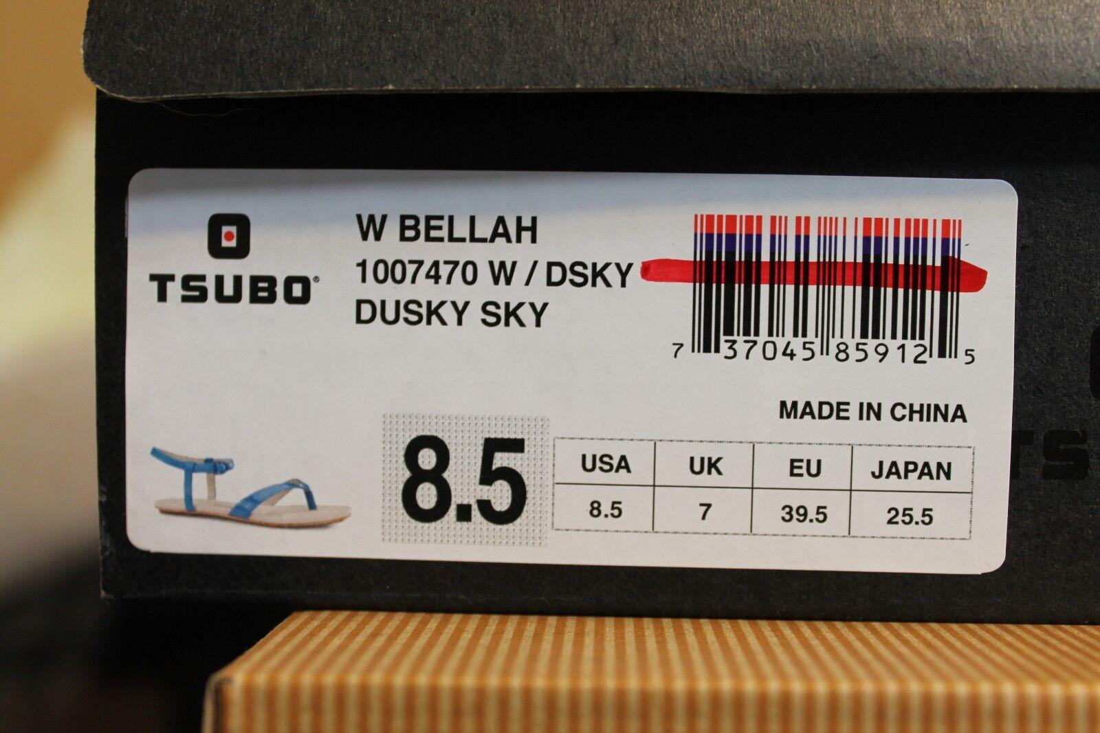 TSUBO BELLAH DUSKY SIZE SKY LEATHER STRAP FLIP FLOPS WOMENS SIZE DUSKY 8.5 US 6f0e89