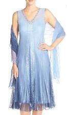 NWT Komarov Lace And Chiffon Dress W/Shawl $418 Size Medium