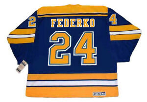 buy popular a3a6a 5b819 Details about BERNIE FEDERKO St. Louis Blues 1980 CCM Vintage Throwback NHL  Hockey Jersey