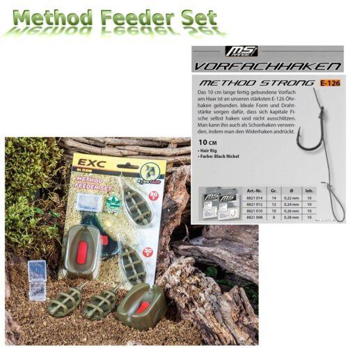 Ace-méthode FEEDER-Set avec 10 MS-Range Method Feeder Hair Rig Taille 8