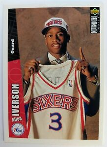 1996-96-UPPER-DECK-Collectors-Choice-ALLEN-IVERSON-ROOKIE-RC-301-76ERS