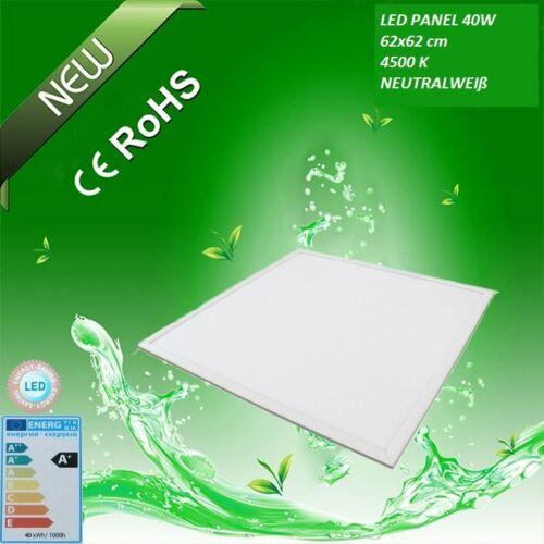 7 Stk LED Panel 62x62cm 40W Rasterdecke Ultraslim Deckenleuchte