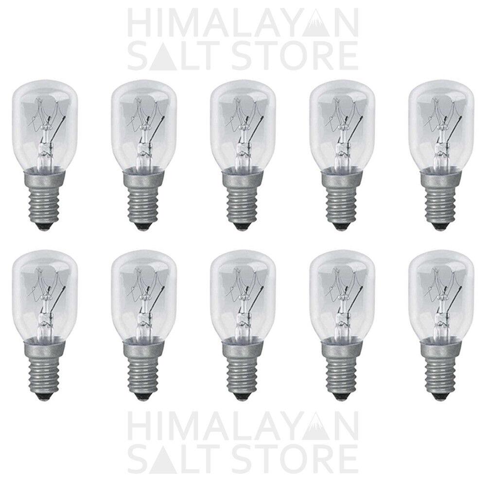 100 X PYGMY LIGHT BULBS   SALT LAMP   APPLIANCE OVEN   Small Screw In E14 15W