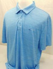 Attack Life by Greg Norman Mens Blue Printed Logo Polo Shirt S BHFO 1936