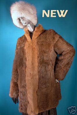 Beautiful New Rabbit Fur Coat Medium 8-12