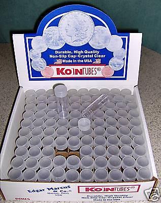 100 KOIN Dime Coin Tubes BRAND NEW Mercury storage 10c