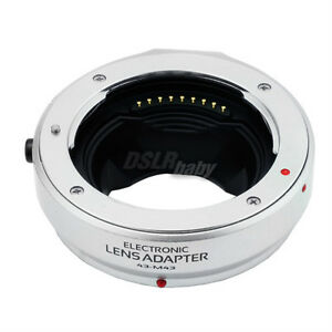 Auto Focus Electronic Adapter Ring for 4/3 to Micro M 4/3 For Olympus Panasonic