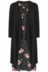 Bonmarche-Women-039-s-Black-2-in-1-Dress-With-Shrug-Size-18-New-With-Tags