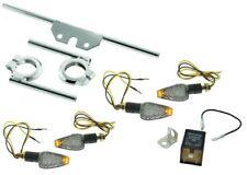 LED Blinker 6V Miniblinker Satz KLAR für Simson S50 S51 Blinkgeber Halter chrom