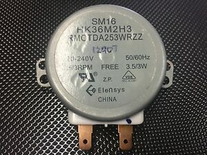 Image Is Loading Sharp Microwave Turntable Motor Sm16 Hk36m2h3 Rmotda253wrzz R230h