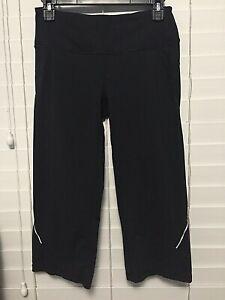 ATHLETA-Womens-Capri-Pants-Size-XS-Black-Yoga-Crop-Leggings-Gym