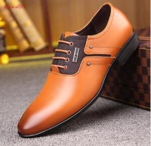 schoenen voor leren formeel mannenzakelijke Britse puntschoen casual Nieuwe kleding b6gyY7fv