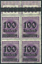 MiNr. 289b OPD Erfurt im Viererblock vom Walzenoberrand 1'11'1 postfrisch