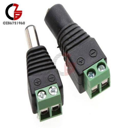 10Pairs Male/&Female 5.5X2.1 DC Power Plug Jack Adapter Connector For CCTV Camera