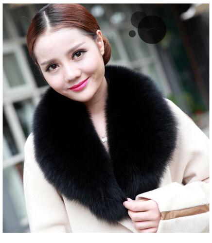 Fluffy Fox Fur Collar Scarf Wrap Shawl Neck Warm Cape Best Match DIY your coat