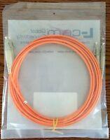L-com Om2 50/125 Duplex Multimode Lszh Fiber Patch Cable - Dual Lc-dual Lc- 3.0m