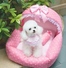 Kojima Princess Cute Cozy Soft Lace Bed Kennel For Small Dog Cat