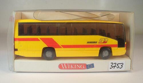 Wiking 1//87 Nr 713 03 Mercedes Benz O 404 RH Reisebus Bundesbus OVP #3753