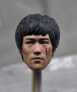 1//6 Bruce Lee KM16-45 Head Sculpt F Phicen Hot Toys Enterbay Male Figure Body