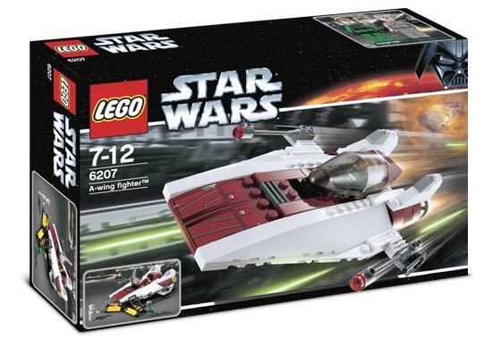 LEGO STAR WARS A-Wing Fighter Set 6207 Nuovo Sealed A-Wing Pilot Minifig