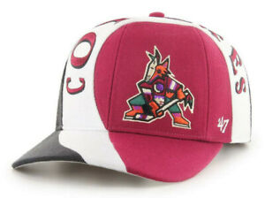 PHOENIX-ARIZONA-COYOTES-NHL-VINTAGE-SNAPBACK-3-TONE-CIRCUIT-MVP-CAP-HAT-NWT-039-47
