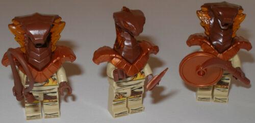 Lego Ninjago 3x Pyro Vipern Schlangen Pyro Krieger mit Waffen
