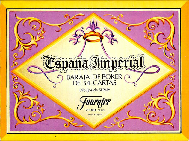 España Imperial Playing Cards-Espana Imperial Baraja De Poker - 52 playing cards
