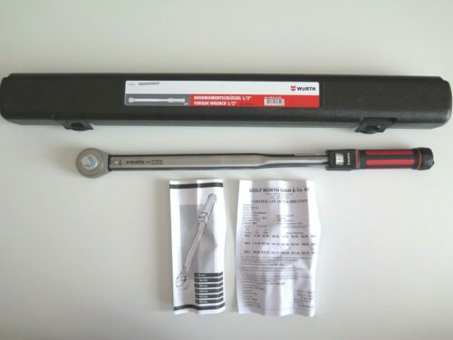 "071471 24 NUOVO Würth CHIAVE DINAMOMETRICA 1//2/"" 60-300 Nm Torque Wrench P//N"