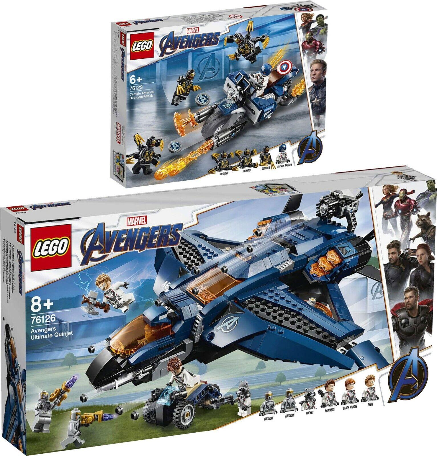 LEGO  Marvel Avengers 76123 76126 Avengers ULTIMATE Quinjet Capitan America  buona qualità