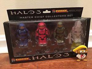 Halo-3-Master-Chief-Collector-039-s-Set-Kubrick-Medicom-Gentle-Giant-Figure-Set