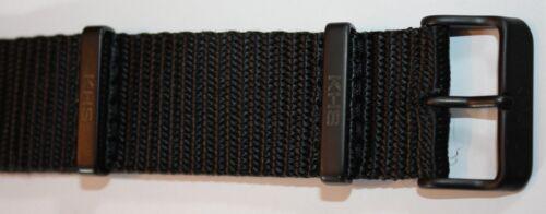 Nato Uhrenarmband Nylon Black PVD beschichtet KHS Ersatzarmbänder KHS.EBNB.24
