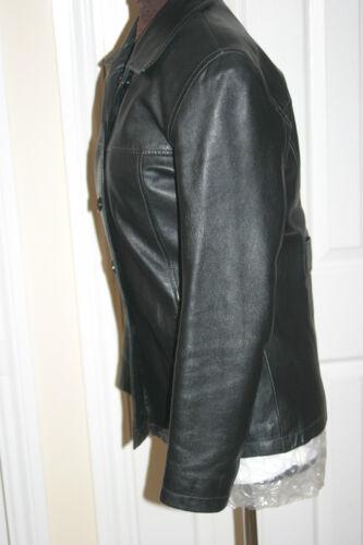 m Leather Womens DPL Real Black C91cm S Petto Uk10us8eu38 Lambskin C36ins Jacket Z0ZOqx7w