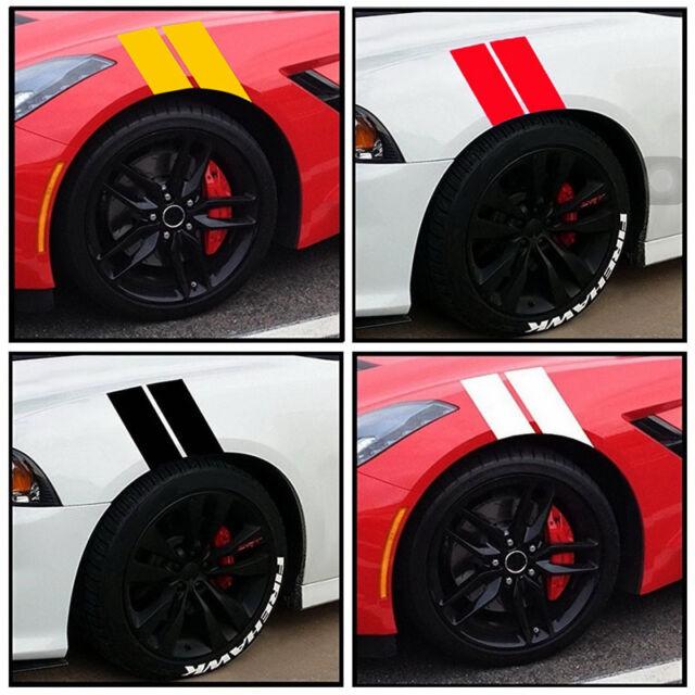 2pcs Fender Stripe Racing Graphic Decal Sticker Bumper Side Scuttle Stickers