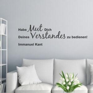 Details Zu Wandtattoo Zitat Habe Mut Immanuel Kant Wandsticker Wandaufkleber