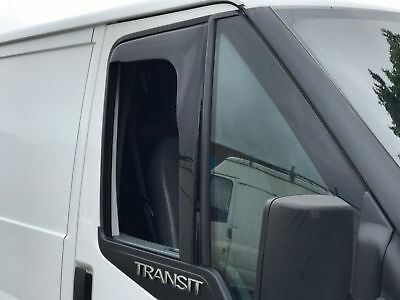 SNED FO83 Wind Deflectors Smoked Ford Transit Mk6 2000/> All Models Front Pair