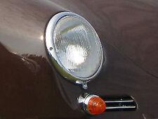 VW TYPE 1 BUG OVAL PORSCHE 356 FLUTED HEADLIGHT GLASS BUCKET ASSEMBLES PAIR