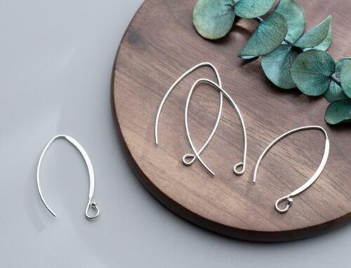 925er Silber Fischhaken Ohrhaken Ohrringe Ohrfedern Ohrhänger DIY A1651