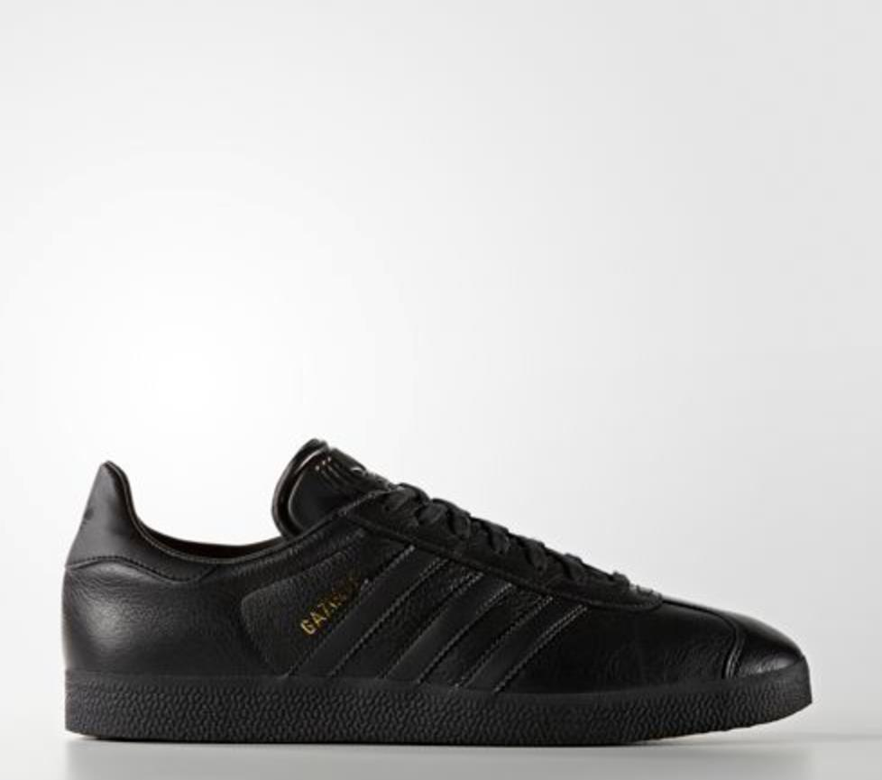 New Adidas Men's Originals Gazelle shoes (BB5497)  Black    Black-Metallic gold