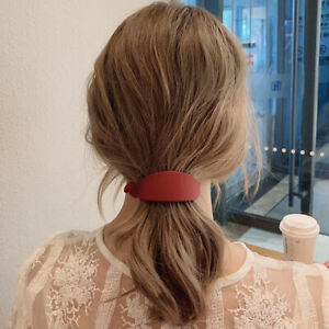 Fashion Candy Color Banana Clip Hairpin Clip Women Hair Accessories Ponytail
