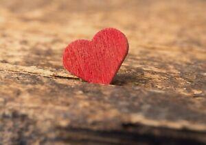 A1-Wood-Love-Heart-Cute-Poster-Art-Print-60-x-90cm-180gsm-Lover-Fun-Gift-15148